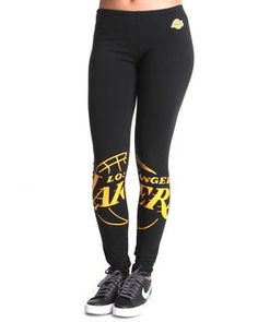 Los Angeles Lakers Leggings. Get it at DrJays.com