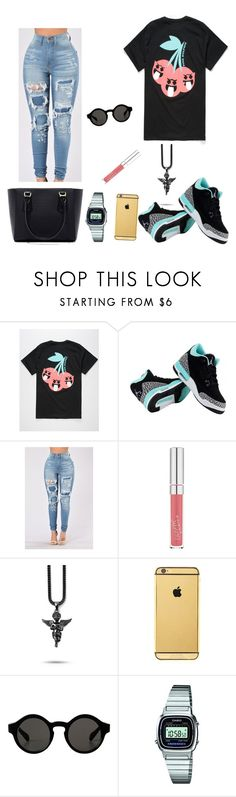 """Pink Dolphin"" by imanifashions on Polyvore featuring Pink Dolphin, NIKE, Goldgenie, Monki and Casio"