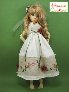Embellished with Flowers, outfit for MSD-size dolls by Kaye Wiggs ♡ dolls Layla, Nyssa, Miki, Anabella ♡ http://hankiecouture.com ♡ #hankiecouture 2013