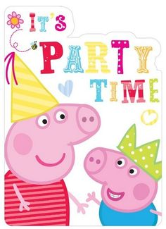 GBP - Peppa Pig Party Invitations Party Supplies Girl Boys Inc Envelopes & Garden Red Birthday Party, Pig Birthday, Red Party, Birthday Cards, Peppa Pig Invitations, Birthday Party Invitations, Peppa Pig Gifts, Peppa Pig Imagenes, George Pig Party