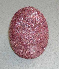 Glitter Easter eggs!!