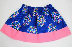 Colorful Raindrop Girls Skirt Girls Spring by TheBloomingWillow