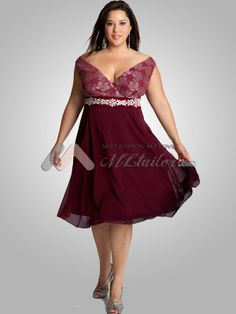 Plus Size Mother of the Bride Dress Cocktail Dress Plus Size Dress. This would also be a great bridesmaid's dress.