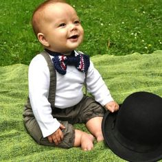 Baby boy Joseph with a bow tie 6 month picture