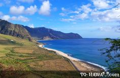 """Kaena Point State Park, Oahu  From website: """"Kaena, which means """"red hot"""" or """"glowing"""" in the Hawaiian language, is the name of the northwestern tip of the island of Oahu.""""    This is an out of the way beach that isn't very populated on most days. Whereas, most of the North Shore is jam packed year round. If you want a quiet stroll on the beach or to dig your toes in the sand and face the waves with the volcanic ridge at your back then this is the place."""