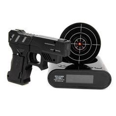 Target Alarm Clock Quick Shot Timed Random Modes Three Games Black NEW #Ypper #Contemporary