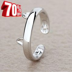 3 Best Seller Beautiful Silver Plated Cat Ring