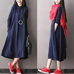 Long sleeve autumn dress