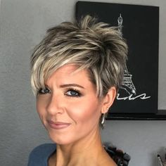 Longer Pixie Cut Styling Options hair Hair Tutorial: Styling a Longer Pixie without Spikes! Haircut Styles For Women, Short Haircut Styles, Cute Short Haircuts, Short Hairstyles For Women, Bob Hairstyles, Short Styles, Bob Haircuts, Short Choppy Haircuts, Messy Pixie Haircut