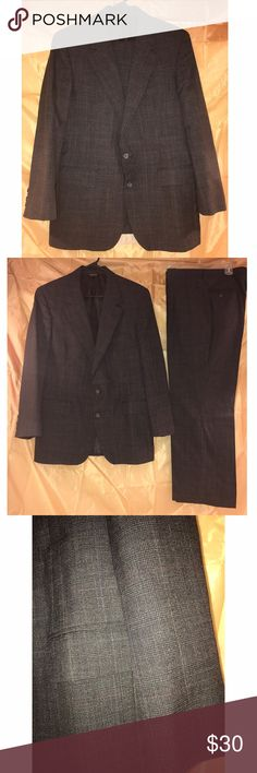 Men's Dress Suit Men's Dress Suit for sale. Wool suit, size 42S/36W, black/gray with a check/houndstooth print. Barrister Suits & Blazers Suits