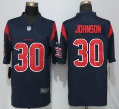 Nike Men's Houston Texans #30 Kevin Johnson Navy Blue Color Rush Limited Jersey