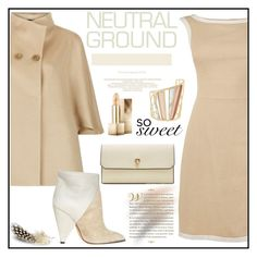 """""""Cool Neutrals"""" by zon-vito ❤ liked on Polyvore featuring Harrods, IRO, Valextra, Alexis Bittar, Burberry, WorkWear, formal, Elegant, neutrals and falltrend"""