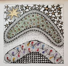 Hump Day Zentangle® Challenge – A Visit to Perth, Australia Edition Perth Australia, Western Australia, 7 Pointed Star, Location Icon, Australian Flags, Kings Park, Prismacolor, Spring Flowers
