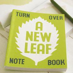 '... A New Leaf' Notebook by SUKIE by MiniMental on piiqshop!
