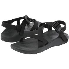 Chaco Z/1® Vibram® Yampa ($105) ❤ liked on Polyvore featuring shoes, sandals, black, black platform shoes, grip shoes, chaco sandals, black buckle sandals and buckle sandals