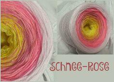 Schnee-Rose: Hochbauschacryl 7 Farben: vanille kanariengelb altrosa lachs  blüte rosa natur