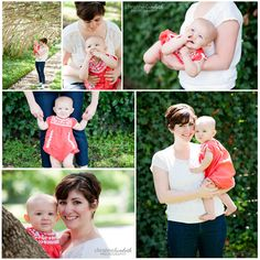 Mommy and me photo session - adorable 9 month old baby girl