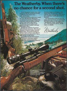 1982 WEATHERBY Mark V Magnum w/ Mark V Lazermark RIFLE Photo AD #Weatherby