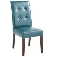 Mason Bonded Leather Dining Chair - Teal | These chairs with coordinating colors would be super cute for a dining room makeover!