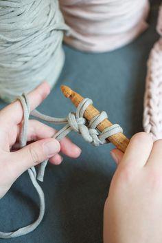 Knitting A Cord - Lebenslustiger.com  with t-shirt yarn