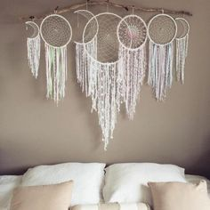 Handmade Home Decor Large Dream Catcher, Dream Catcher Boho, Dream Catchers, Handmade Home Decor, Diy Home Decor, Los Dreamcatchers, Boho Dreamcatcher, Dream Catcher Tutorial, Craft Ideas