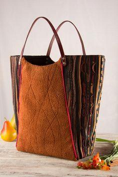 large top handle Tote Shoppper market bag in fall by karenlukacs                                                                                                                                                                                 More