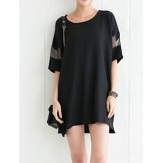 sheer cut out shirt dress | $4.61