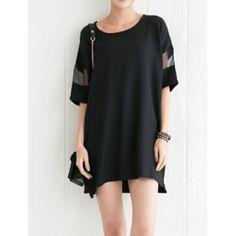 sheer cut out shirt dress| $4.61