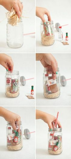 Make your own Mason Jar Bloody Mary Gift + Spice Mix! Adorable DIY Mason Jar Bloody Mary Gift + custom spice mix packet… you've got to try this! Funny Christmas Presents, Christmas Gifts For Adults, Xmas Gifts, Christmas Diy, Pot Mason Diy, Mason Jar Gifts, Mason Jars, Homemade Gifts, Diy Gifts