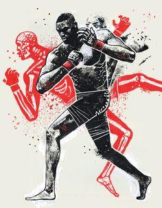 Unbreakable Jon Jones: The Return of MMA& Prodigal Son Art And Illustration, Illustrations And Posters, Muay Thai, Material Arts, Wal Art, Jon Jones, Arte Pop, Mixed Martial Arts, Graphics