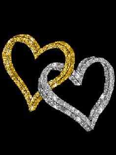 Gifs de Amor con corazones de purpurina.