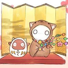 いいね!696件、コメント5件 ― 「ミイラの飼い方」公式さん(@miira_kaikata)のInstagramアカウント: 「【今日のミーくん/あけましておめでとうございます!】 原作・空木かけるさんから、イラストが届きました☆ ミーくん&コニーがとっても縁起の良さそうな置き物に…!(✿´ ꒳ ` )…」