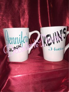 A personal favorite from my Etsy shop https://www.etsy.com/listing/256194689/set-of-2-his-and-hers-coffee-mugs-great