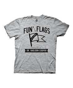 Look what I found on #zulily! The Big Bang Theory 'Fun With Flags' Tee - Men's Regular #zulilyfinds