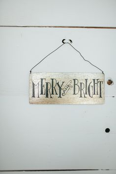 """Merry & Bright"" Tin Sign 