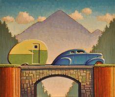 """Camping"" - Original Fine Art for Sale - © Robert LaDuke"