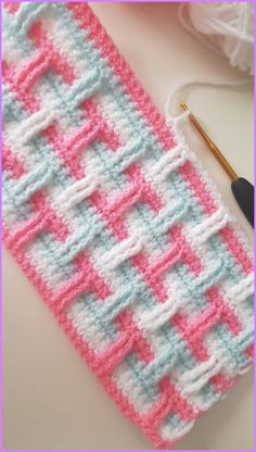 Crochet Stitches For Blankets, Crochet Stitches Free, Crochet Stitches For Beginners, Crochet Square Patterns, Crochet Blanket Patterns, Baby Knitting Patterns, Crochet Designs, Free Crochet, Stitch Patterns