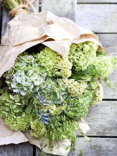 Prächtiges Bouquet mit Hortensien in Naturtönen #tollwasblumenmachen #hydrangea
