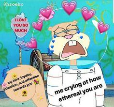 Pintrest:K/J1307 Gf Memes, Suki, Laugh Track, Heart Meme, Current Mood Meme, Snapchat Stickers, Cute Love Memes, Cartoon Memes, Lovey Dovey