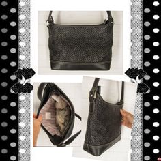 New Liz Claiborne faux straw purse. This classic shoulder bag is trimmed with vegan leather. TREAT YOURSELF TODAY!