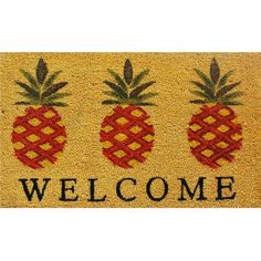 Wildon Home ® Pineapple Welcome Doormat & Reviews | Wayfair