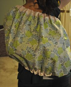 The EASIEST and BEST diy nursing cover.  (I'm going to give this one a try. I like the no flashing option!)  Ahh totally making this before our trip!!! Summer HATES being covered while nursing so this would be a great nursing cover!