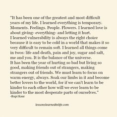 Lessons Learned in Life | It's been a great and difficult year.