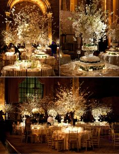 Enchanting and romantic center pieces