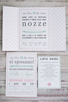 [My work] Wedding Suite – Sara e Fabio: pois e righe in menta e rosa.