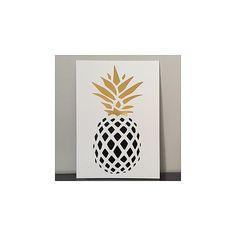 Affiche Ananas noir et or mon petit léon décoration poster