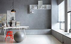 Wandgestaltung in Beton-Optik - SCHÖNER WOHNEN-Farbe - [SCHÖNER WOHNEN]