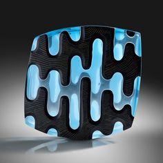 ETHAN STERN, Inky Aqua | Ragoarts.com Modern Glass, 3 D, Aqua, Auction, Carving, Water, Wood Carvings, Sculptures, Printmaking