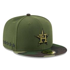 1b241462434 Houston Astros New Era 2017 Memorial Day 59FIFTY Fitted Hat - Green