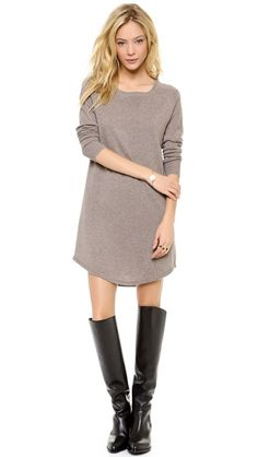 360 SWEATER Rosa Sweater Dress... and boots